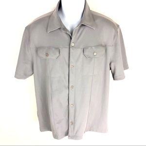 Vintage Guess Men's Gray Button Shirt L